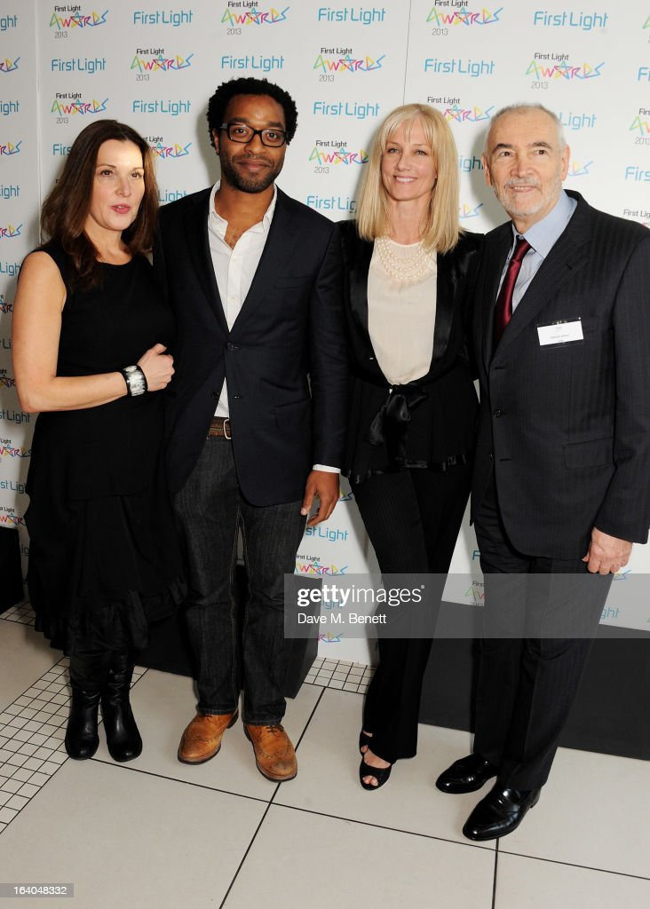 Barbara Broccoli, Chiwetal Ejiofar, Joely Richardson and Michael G. Wilson attend the First Light Awards at Odeon Leicester Square on March 19, 2013 in London, England.