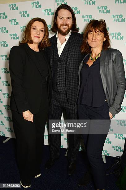 Barbara Broccoli Kieran Bew and Beeban Kidron attend the 2016 Into Film Awards at Odeon Leicester Square on March 15 2016 in London England