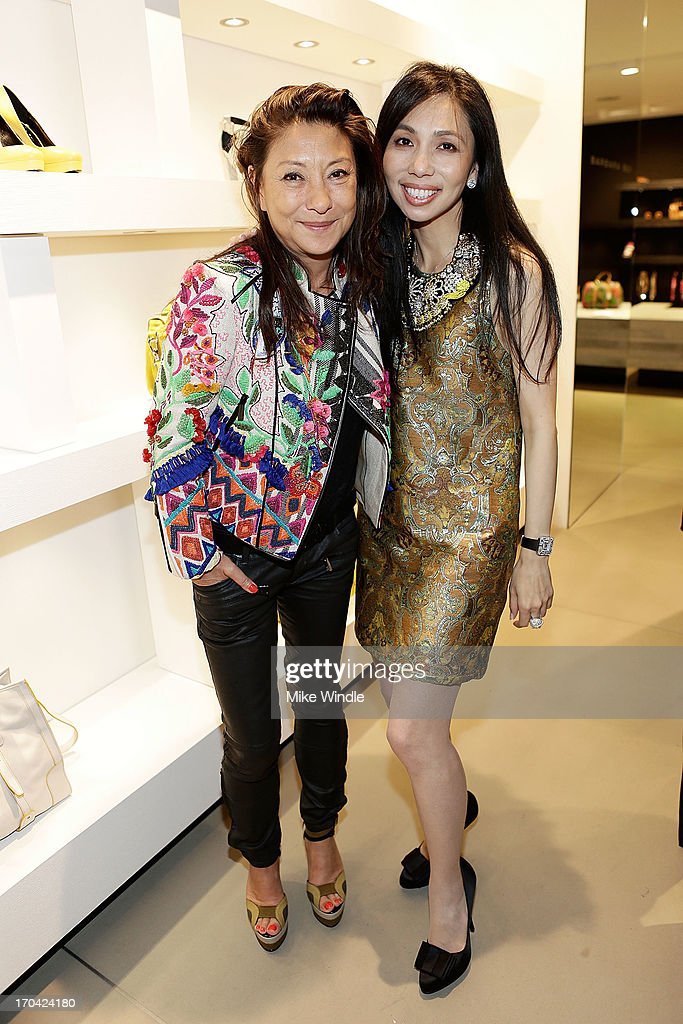 Barbara Bui and Elizabeth An attend designer Barbara Bui celebrates first West Coast visit at her Rodeo Drive boutique on June 12, 2013 in Beverly Hills, California.