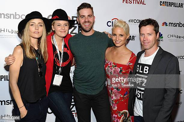 Barbara Burchfield Maggie Grace Dianna Agron and Ryan Gall attend VIP Lounge at the 2014 Global Citizen Festival to end extreme poverty by 2030 in...