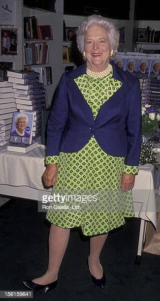 Barbara Bush attends book party for Barbara Bush 'Barbara Bush A Memoir' on September 21 1994 at Brentano's Book Store in Century City California