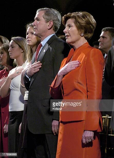 Barbara Bush Jenna Bush President George W Bush and First Lady Laura Bush