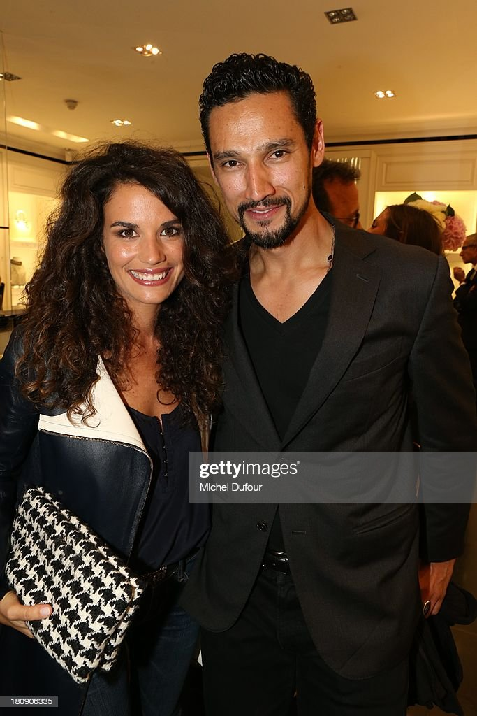 Barbara Cabrita and Stany Coppet attend the Vogue Fashion Night In Paris at Dior rue Royale on September 17, 2013 in Paris, France.