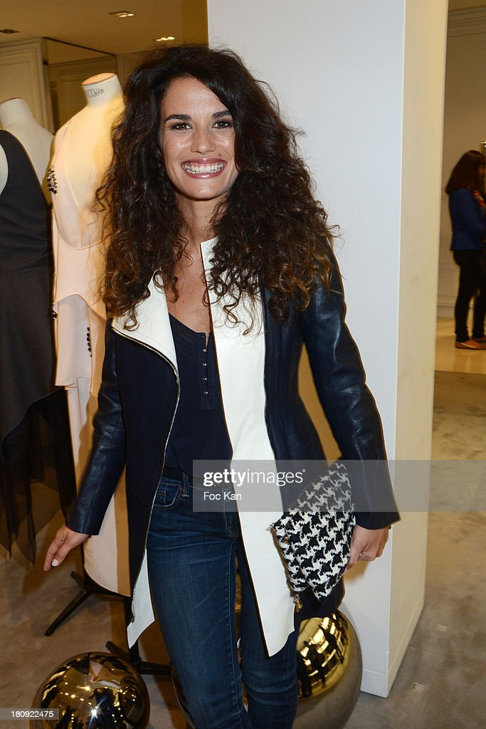 Barbara Cabrita attends the Christian Dior Shop Cocktail during the Vogue Fashion Night Out on Rue Saint Honore on September 17, 2013 in Paris, France.