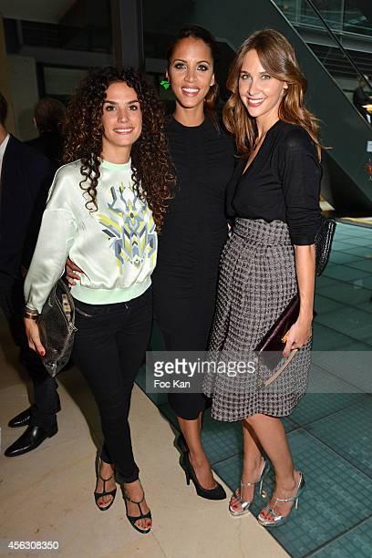 Barbara Cabrita Noemie Lenoir and Ophelie Meunier attend the John Galliano show as part of the Paris Fashion Week Womenswear Spring/Summer 2015 John...