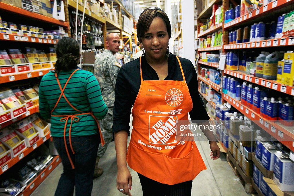 Barbara Chico, who was recently hired by The Home Depot, walks through an isle while continuing her training to be a Home Depot Associate on February 16, 2012 in Miami, Florida. The Home Depot company announced that it will be hiring 70,000 new seasonal workers as U.S. unemployment claims have fallen to their lowest level in four years.