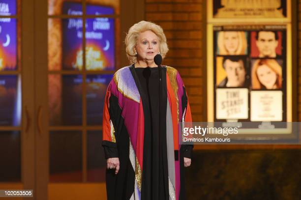 Barbara Cook speaks onstage during the 64th Annual Tony Awards at Radio City Music Hall on June 13 2010 in New York City