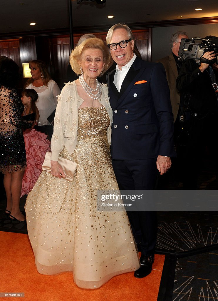 Barbara Davis and designer Tommy Hilfiger attend the 20th Annual Race To Erase MS Gala 'Love To Erase MS' at the Hyatt Regency Century Plaza on May 3, 2013 in Century City, California.