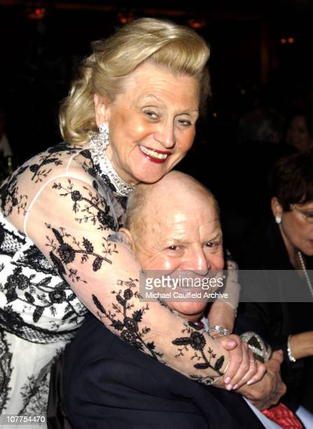 Barbara Davis and Don Rickles during 11th Annual Race to Erase MS Show and Inside at Century Plaza Hotel in Century City California United States