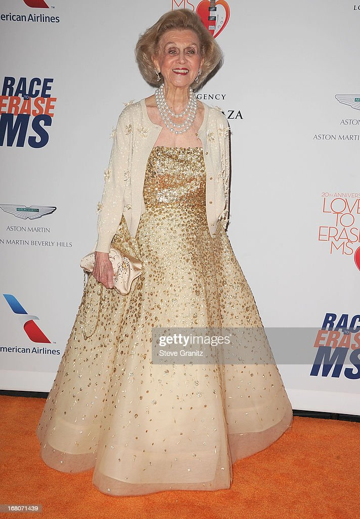 Barbara Davis arrives at the 20th Annual Race To Erase MS Gala 'Love To Erase MS' at the Hyatt Regency Century Plaza on May 3, 2013 in Century City, California.
