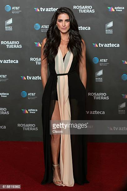 Barbara de Regil poses at the premiere of 'Rosario Tijeras' TV series for TV Azteca on October 27 2016 in Mexico City Mexico