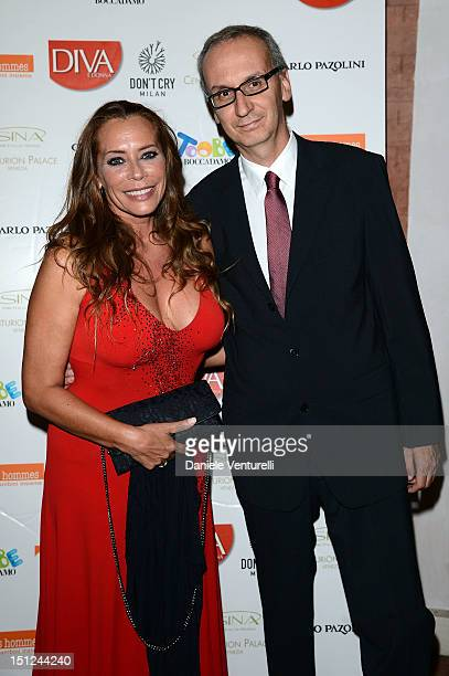 Barbara De Rossi and Angelo Ascoli attend the Premio Diva Donna at the Centurion Hotel on September 4 2012 in Venice Italy