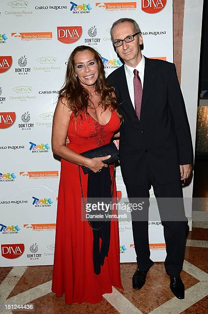 Barbara De Rossi and Angelo Ascoli attends the Premio Diva Donna at the Centurion Hotel on September 4 2012 in Venice Italy
