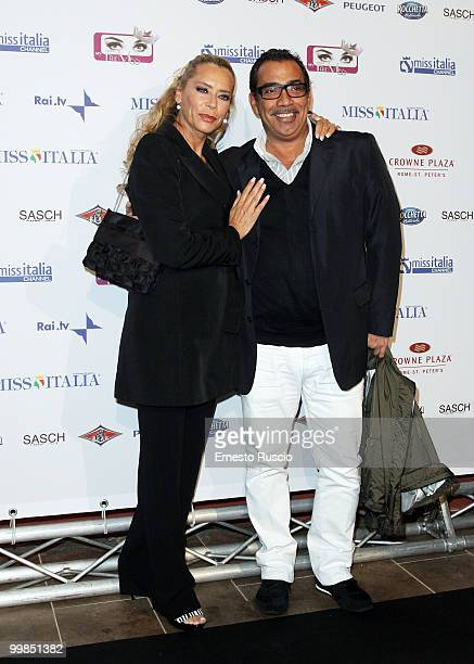 Barbara De Rossi and Guillermo Mariotto attend the My Fair Miss Web channel launch at Crowne Plaza on May 17 2010 in Rome Italy