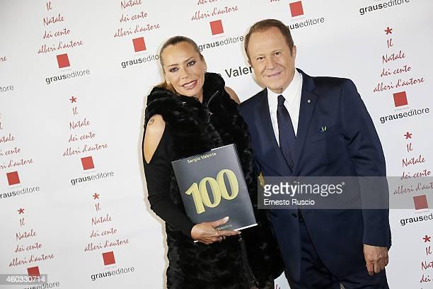 Barbara De Rossi and Sergio Valente attend the 'Il Natale Dei 100 Alberi d'Autore 100 Christmas Trees By Designers' benefit night at Palazzo Torlonia...