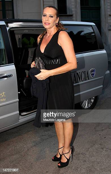 Barbara de Rossi arrives at the Lancia Cafe during the 58th Taormina Film Fest on June 27 2012 in Taormina Italy