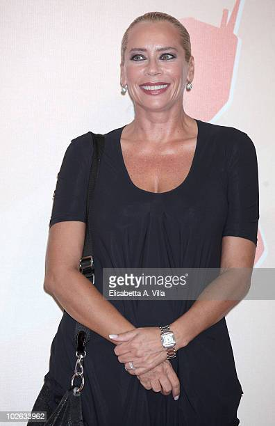 Barbara De Rossi attends a photocall during the Rome Fiction Fest at Adriano Cinema on July 5 2010 in Rome Italy