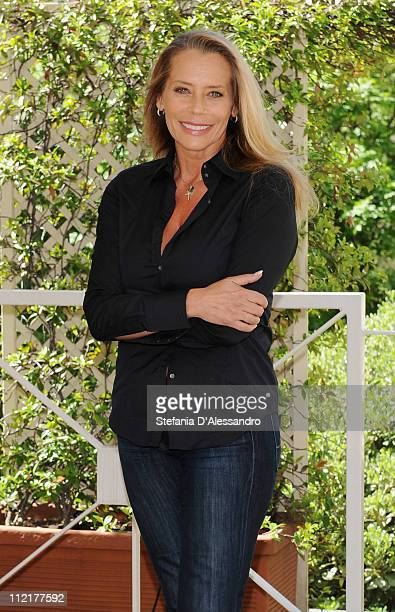 Barbara De Rossi attends a photocall for Napoli Milionaria at Hotel Westin Palace on April 13 2011 in Milan Italy
