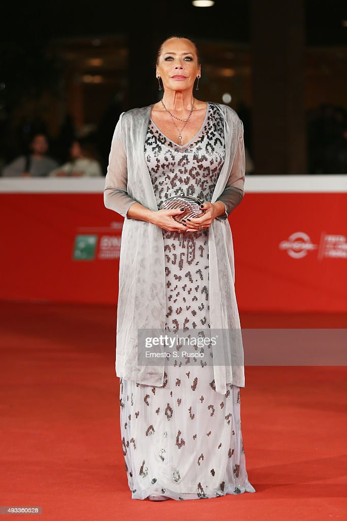 Barbara De Rossi attends a red carpet for 'The Walk 3D' during the 10th Rome Film Fest on October 19 2015 in Rome Italy