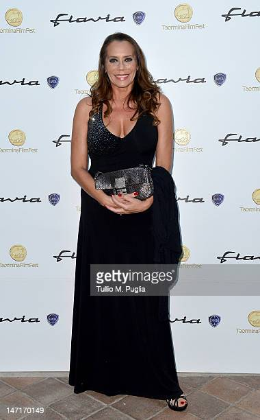 Barbara de Rossi attends at the Lancia Cafe during the 58th Taormina Film Fest on June 26 2012 in Taormina Italy