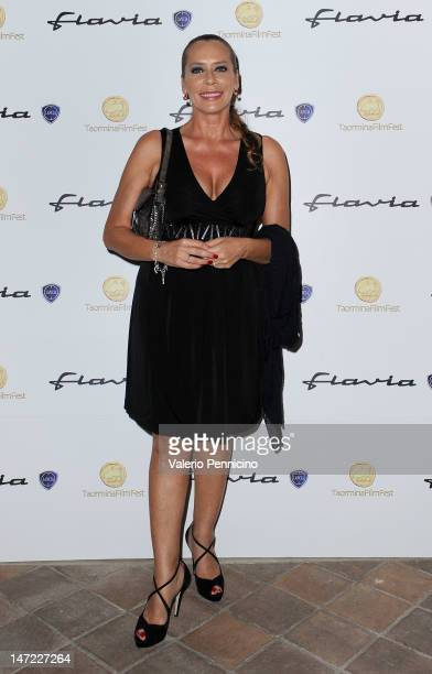 Barbara de Rossi attends at the Lancia Cafe during the 58th Taormina Film Fest on June 27 2012 in Taormina Italy