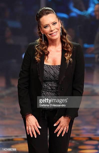Barbara De Rossi attends 'L'Isola dei Famosi' Final 2012 on April 5 2012 in Milan Italy