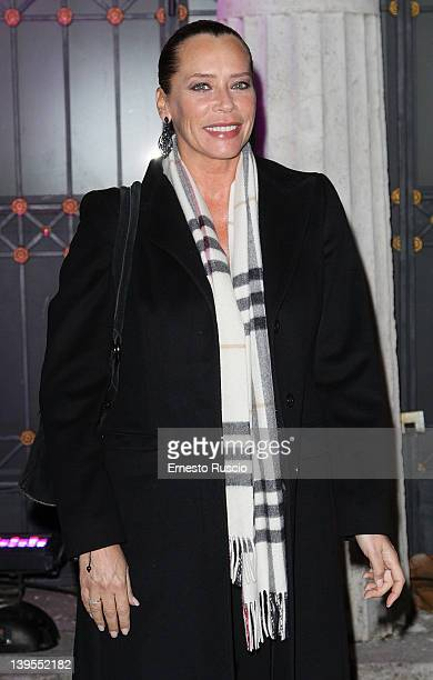 Barbara De Rossi attends the Pink Roma Party at Casina Valadier on February 22 2012 in Rome Italy