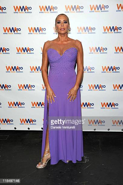 ACCESS *** Barbara De Rossi attends the Wind Music Awards Backstage at the Arena of Verona on May 29 2010 in Verona Italy