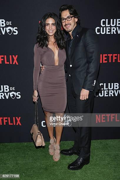 Barbara del Regil and Fernando Schoenwald attend the Netflix Club De Cuervos Season 2 launch party at Cinemex Patriotismo on December 10 2016 in...