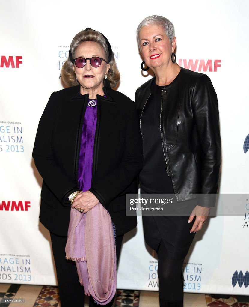 Barbara Diamonstein-Spielvogel (L) and Debra Shriver attend the International Women's Media Foundation's 2013 Courage In Journalism awards at Cipriani 42nd Street on October 23, 2013 in New York City.