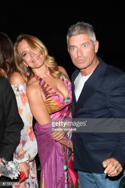 Barbara D'Urso and Giorgio Rastelli attends 2017 Ischia Global Film Music Fest on July 9 2017 in Ischia Italy