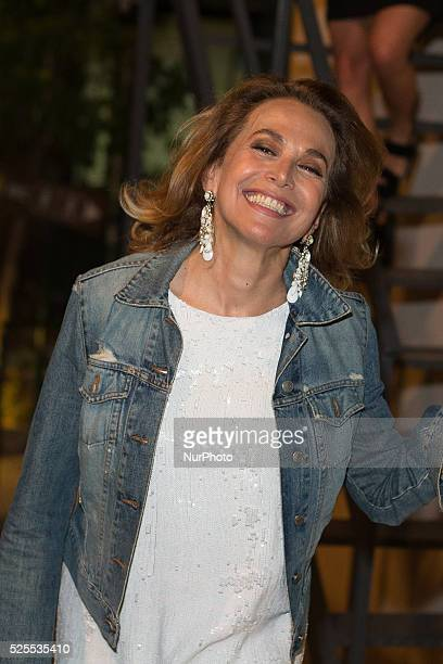 Barbara d'Urso attends Day 4 of the 61st Taormina Film Fest on June 16 2015 in Taormina Italy