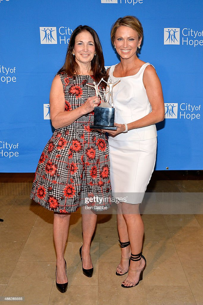 Barbara Edelstein (L) and journalist <a gi-track='captionPersonalityLinkClicked' href=/galleries/search?phrase=Amy+Robach&family=editorial&specificpeople=3075672 ng-click='$event.stopPropagation()'>Amy Robach</a> attend 2014 'Spirit Of Life' Awards Luncheon at The Plaza Hotel on May 5, 2014 in New York City.