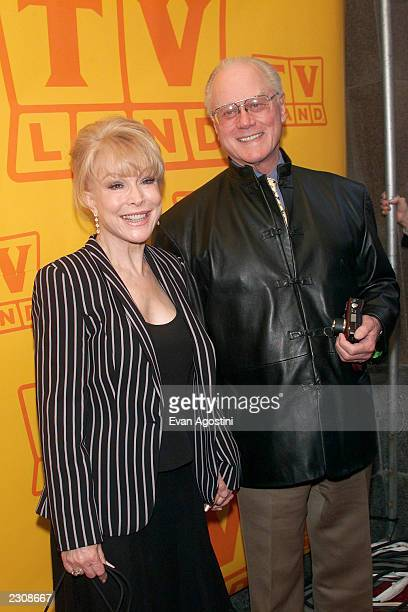 Barbara Eden and Larry Hagman at the TV Land fifth anniversary celebration in New York City Photo Evan Agostini/ImageDirect