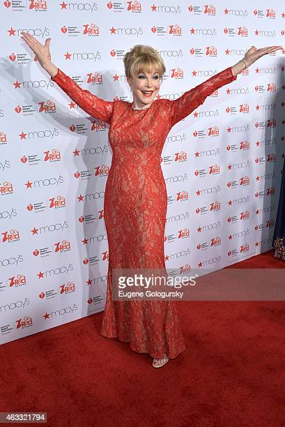 Barbara Eden attends the Go Red For Women Red Dress Collection during MercedesBenz Fashion Week Fall 2015 at The Theatre at Lincoln Center on...