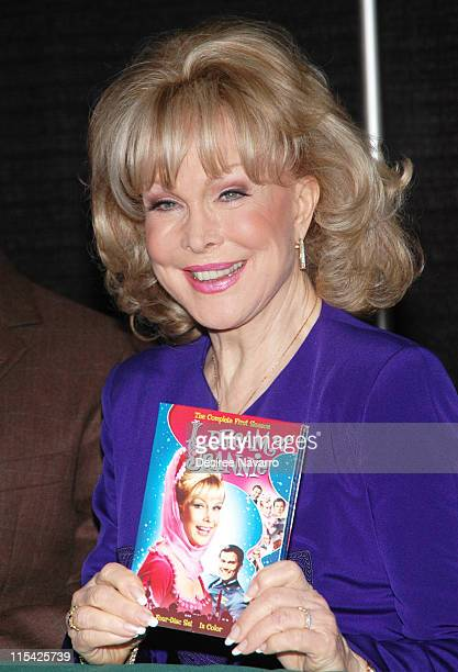 Barbara Eden during Barbara Eden Larry Hagman Sign 'I Dream Of Jeannie' DVD March 15 2006 at Barnes Noble in New York City New York United States