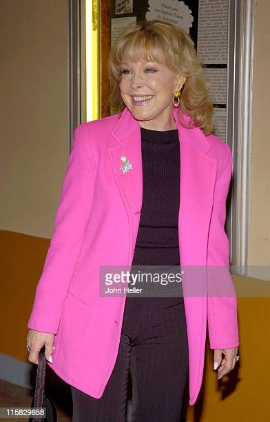 Barbara Eden during Rita McKenzie Stars In 'Ethel Merman's Broadway' February 4 2005 at El Portal Theatre in Los Angeles California United States