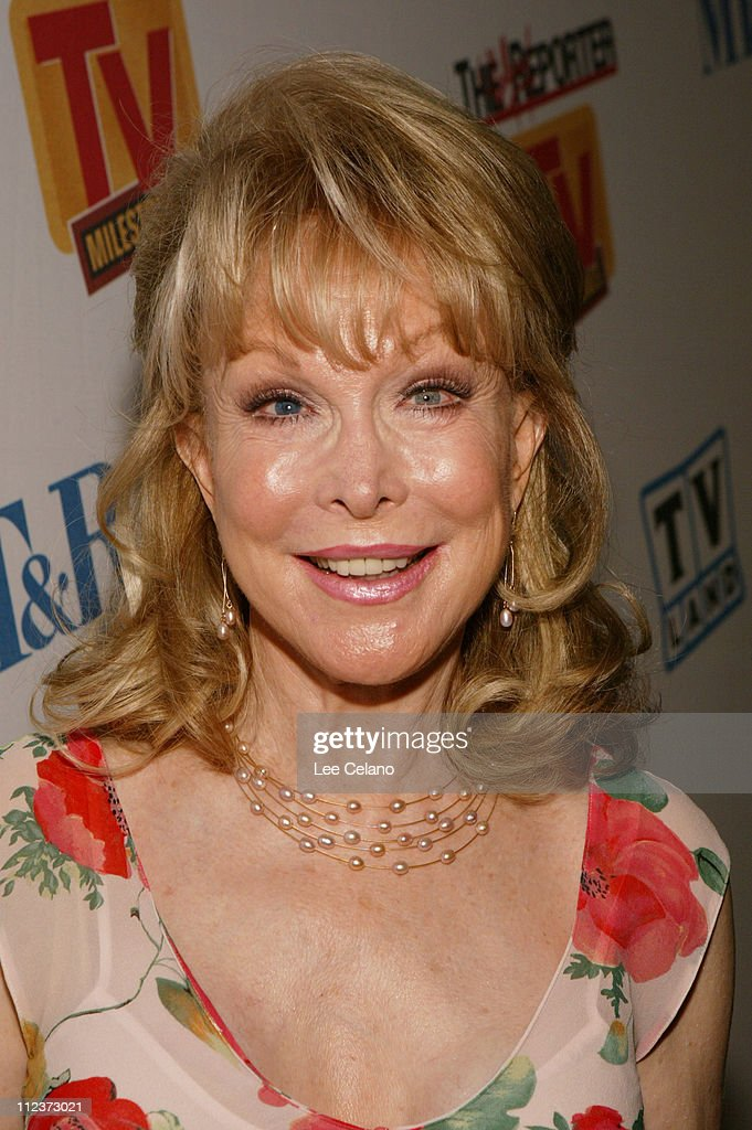 <a gi-track='captionPersonalityLinkClicked' href=/galleries/search?phrase=Barbara+Eden&family=editorial&specificpeople=206974 ng-click='$event.stopPropagation()'>Barbara Eden</a> during The Hollywood Reporter and Museum of Television and Radio TV Milestones Cocktail Reception - Arrivals at The Museum of Television and Radio in Beverly Hills, California, United States.