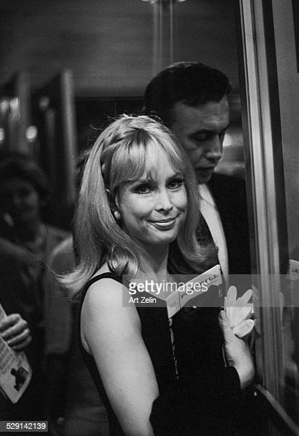 Barbara Eden leaving the theater circa 1970 New York