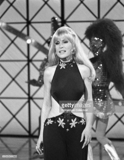 Barbara Eden performs on 'This Is Tom Jones' TV show in circa 1970 in Los Angeles California