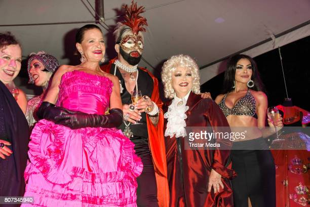 Barbara Engel Harald Gloeoeckler and Barbara Schoene attend the Fashion Week Berlin Opening Night With Dandy Diary And Harald Gloeoeckler at Insel...