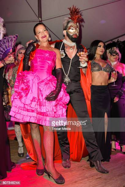 Barbara Engel Harald Gloeoeckler and Kader Loth attend the Fashion Week Berlin Opening Night With Dandy Diary And Harald Gloeoeckler at Insel der...