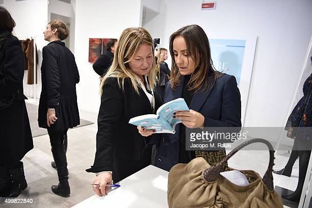 Barbara Fabbroni and Camila Raznovich attend the book presentation of 'L'AMORE FORSE' by Barbara Fabbroni on December 3 2015 at the Maryling Concept...