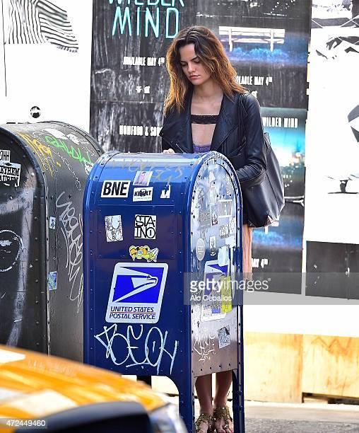Barbara Fialho is seen in Soho on May 7 2015 in New York City