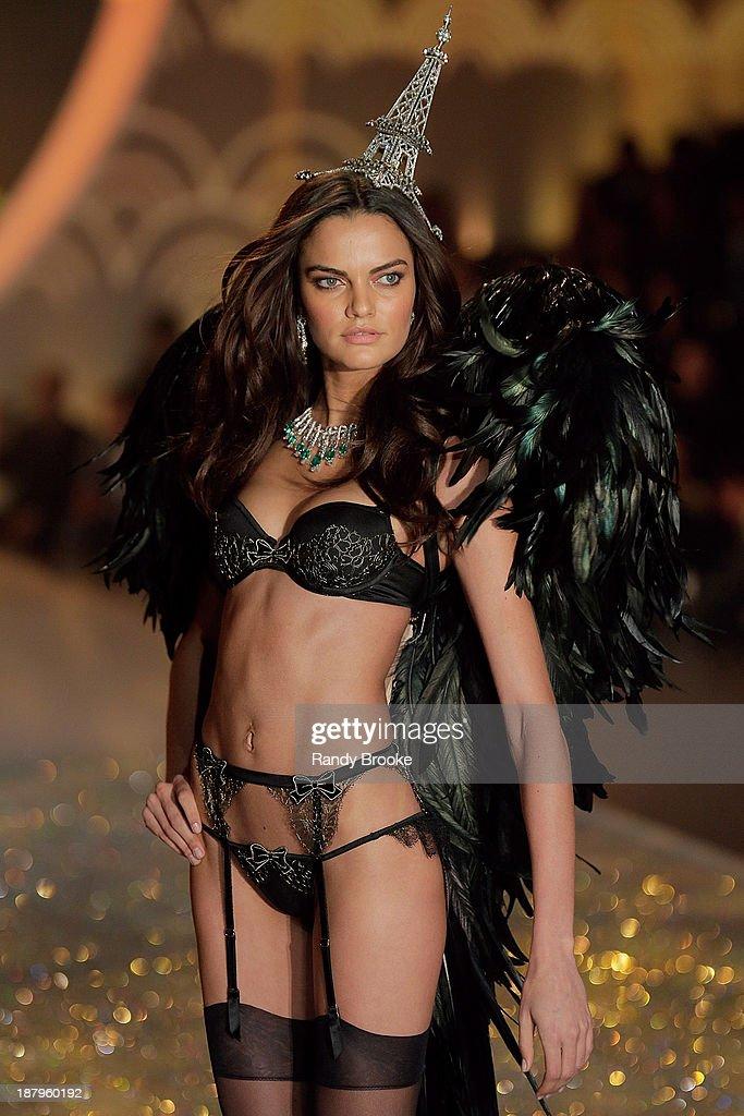 Barbara Fialho walks in the 2013 Victoria's Secret Fashion Show at Lexington Avenue Armory on November 13, 2013 in New York City.