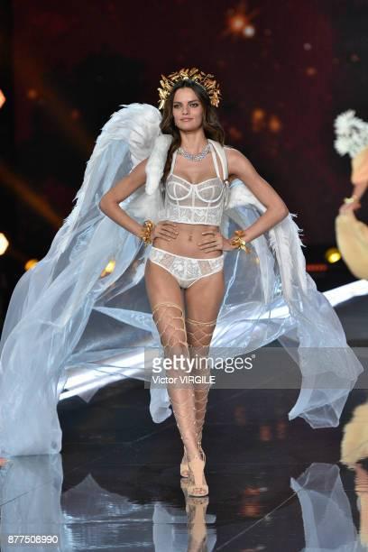 Barbara Fialho walks the runway at the 2017 Victoria's Secret Fashion Show In Shanghai Show at MercedesBenz Arena on November 20 2017 in Shanghai...