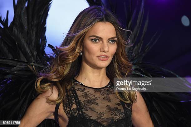 Barbara Fialho walks the runway at the Victoria's Secret Fashion Show on November 30 2016 in Paris France