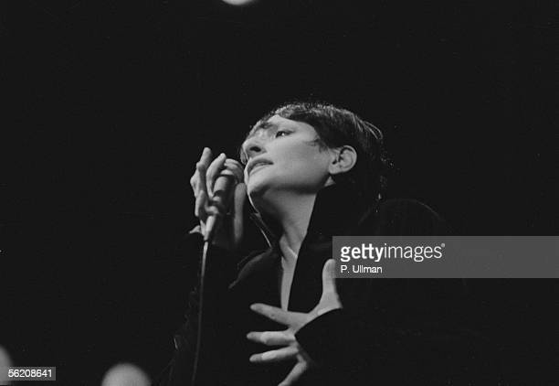 Barbara French singersongwriter and singer Paris Olympia 1977