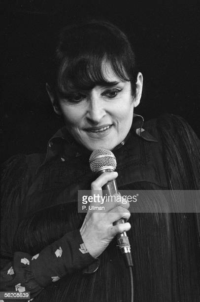 Barbara French singersongwriter and singer Paris Olympia February 1977
