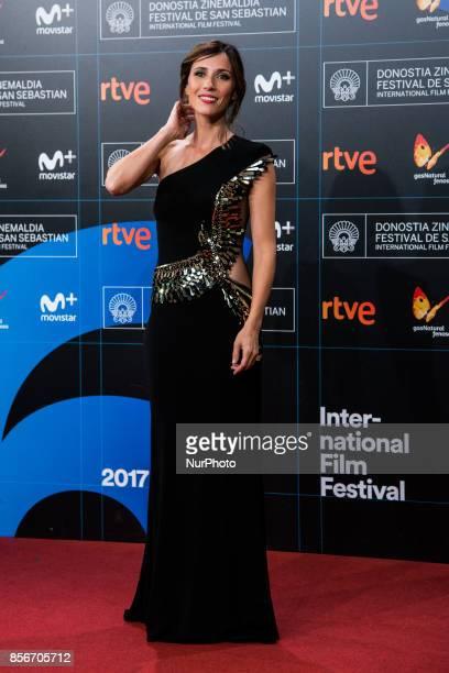 Barbara Goenaga attends the red carpet of the closure gala during 65th San Sebastian Film Festival at Kursaal on September 30 2017 in San Sebastian...